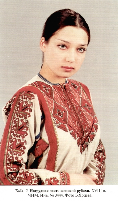 Чувашский национальный костюм  Нагрудная часть женской рубахи 7f51a42721aa6